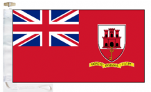 Gibraltar Civil Red Ensign Courtesy Boat Flags (Roped and Toggled)